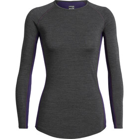 Icebreaker 200 Zone Longsleeve Crew Shirt Dames, jet heather/lotus